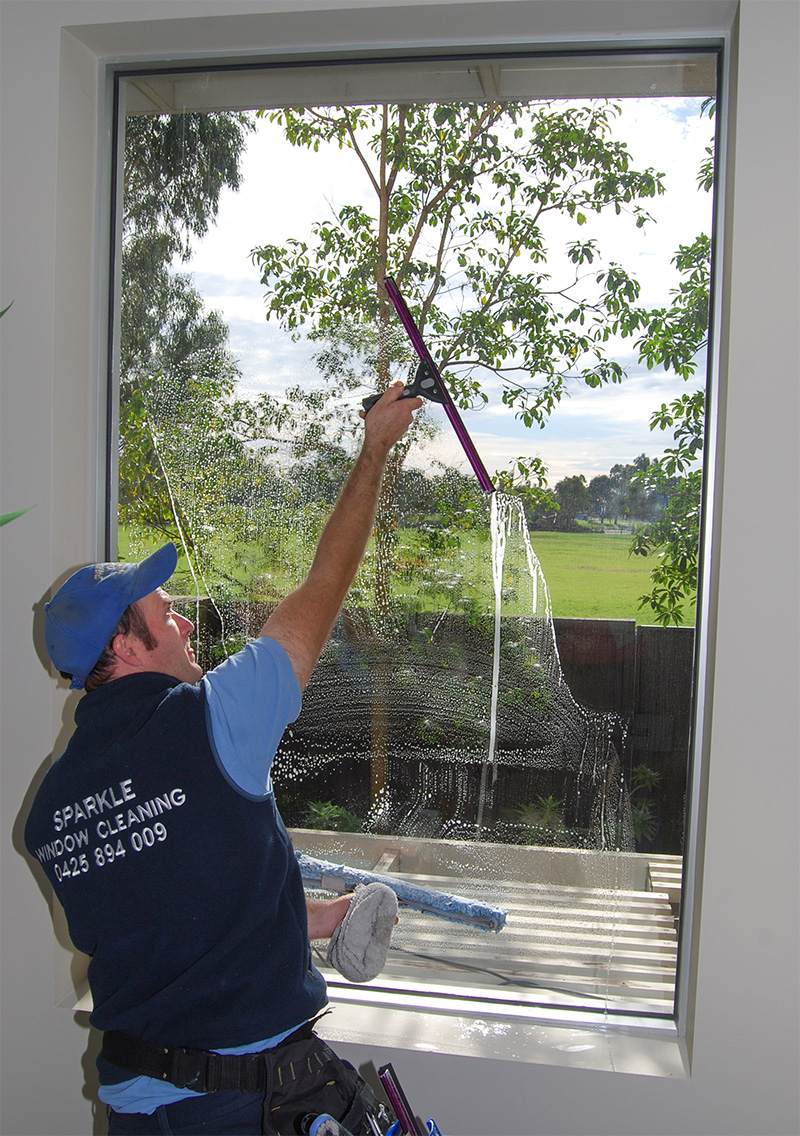 Window cleaning inside
